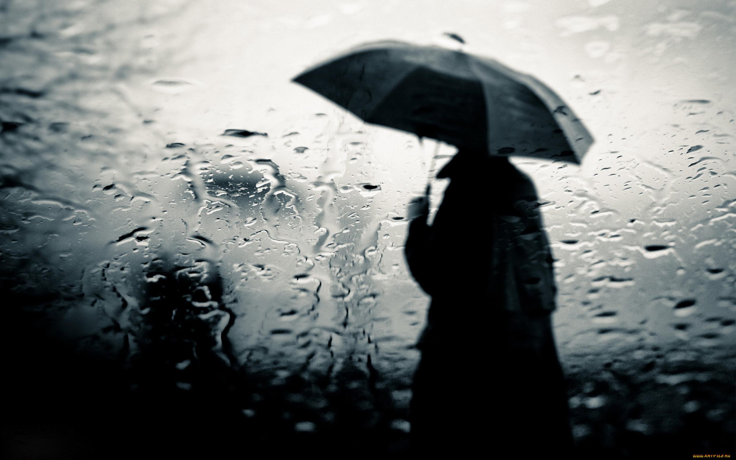Обои дождь, зонт, капли. Разное foto 14